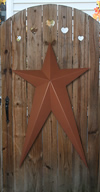 Autumn Brown Metal Barn Stars