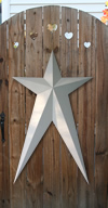 Ivory Long Metal Barn Stars