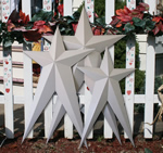 Primed Long Heavy Duty Metal Barn Stars