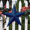 Flag Blue Rustic Finish Metal Barn Stars
