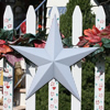 Gray Solid Finish Metal Barn Stars