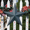 Green Solid Finish Metal Barn Stars