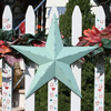 Sage Rustic Finish Metal Barn Stars