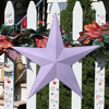 Violet Solid Finish Metal Barn Stars
