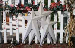 Primed HEAVY DUTY Long Metal Barn Stars