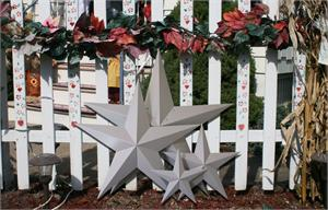 Primed Galvanized HEAVY DUTY Metal Barn Stars