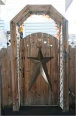 Metallic Hammered Long HEAVY DUTY Metal Stars