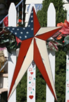 Americana Long Metal Barn Star Rustic Finish