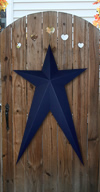 Flag Blue Solid Finish Long Metal Barn Stars