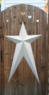 True White Metal Barn Stars