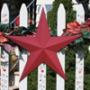 Cranberry Metal Barn Stars