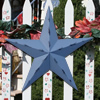 Country Blue Rustic Metal Barn Stars