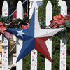 Texas Flag Metal Barn Star Rustic Finish
