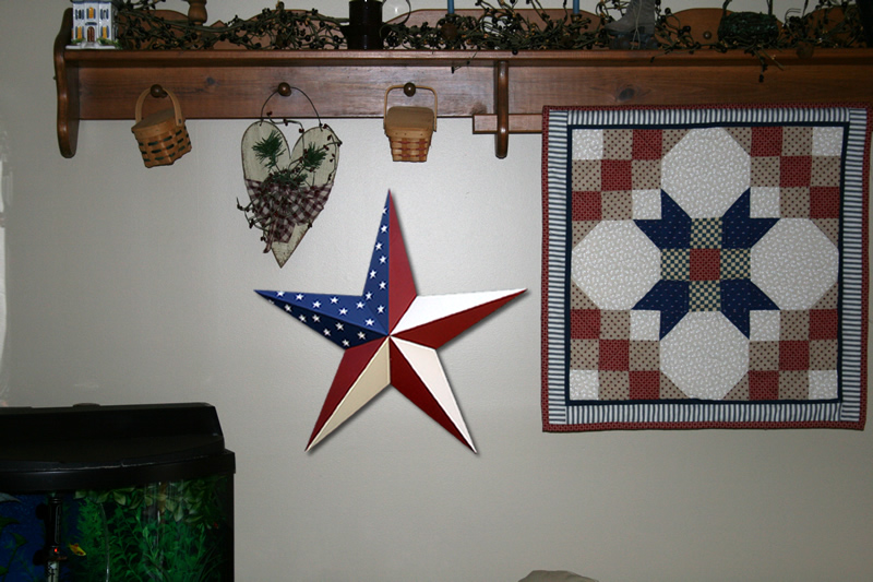 72 Inch Galvanized Americana Old Glory And Texas Flag