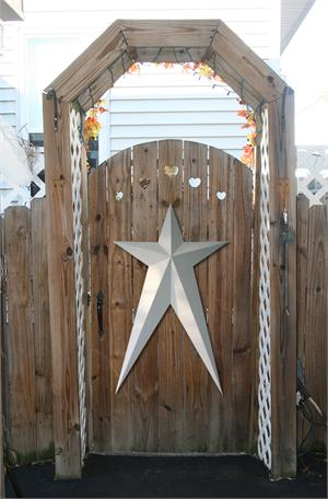 Painted Solid HEAVY DUTY Long Metal Barn Stars