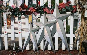 23x39 Inch Unfinished HEAVY DUTY Long Metal Barn Stars