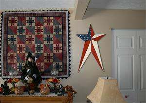 Patriotic Americana, Old Glory, HEAVY DUTY Long Metal Barn Stars