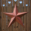 Autumn Copper Vintage Metal Stars