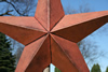 Autumn Copper Vintage Metal Stars Close Up View