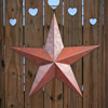 Barn Red Vintage Metal Stars