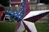 Old Glory Vintage Metal Stars Close Up View